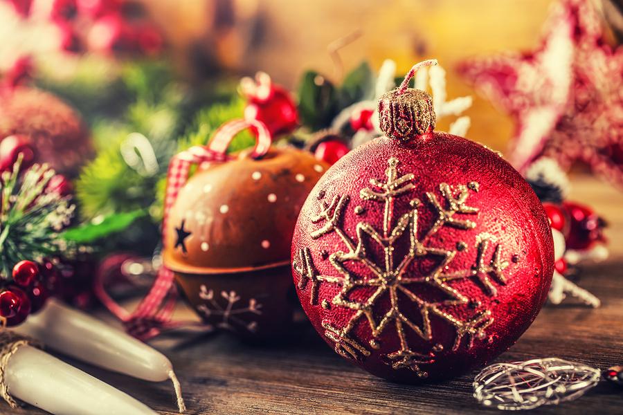Christmas Time.Christmas candle and decoration. Christmas border